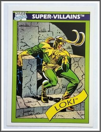 "Loki Marvel Comics Cards 1990 ""Super-Villains"" Trading Card #54"
