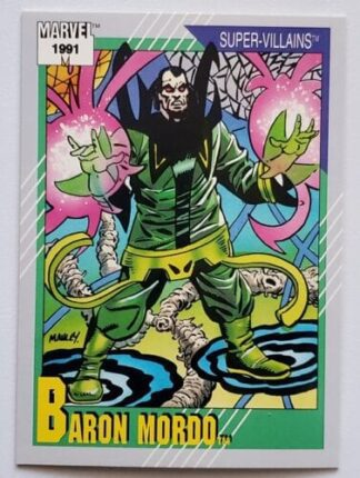 "Baron Mordo Marvel 1991 ""Super Villains"""