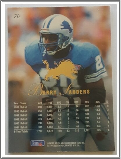 Barry Sanders Flair 1995 Back
