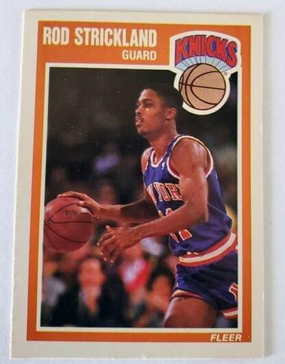 Rod Strickland Fleer 1989 Card#104