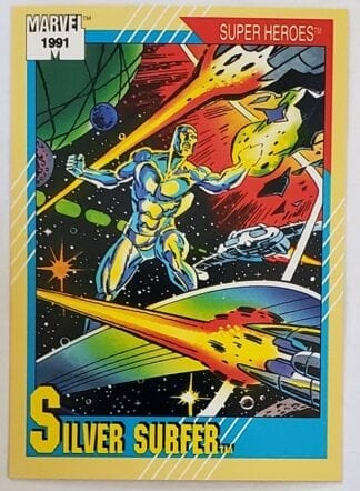 "Silver Surfer Marvel Trading Card ""Super Heroes"" 1991 Card #45"