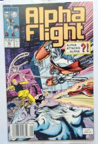 """Alpha Flight Marvel Comics Issue #66 Jan. 1989 """""""