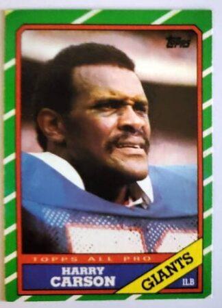 Harry Carson Topps 1986 Card #152