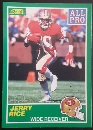 Jerry Rice Score All Pro 1989 Card # 292