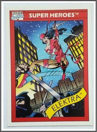 Elektra Marvel Comics Card 1990