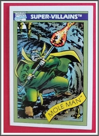 Mole Man Marvel Comics Card 1990