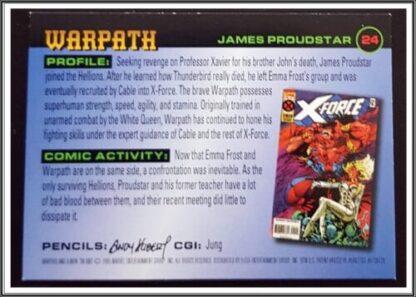 Warpath Fleer 1996 X-Men Back