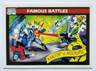 Marvel Comic card Famous Battles X-Factor -vs-Apocalypse