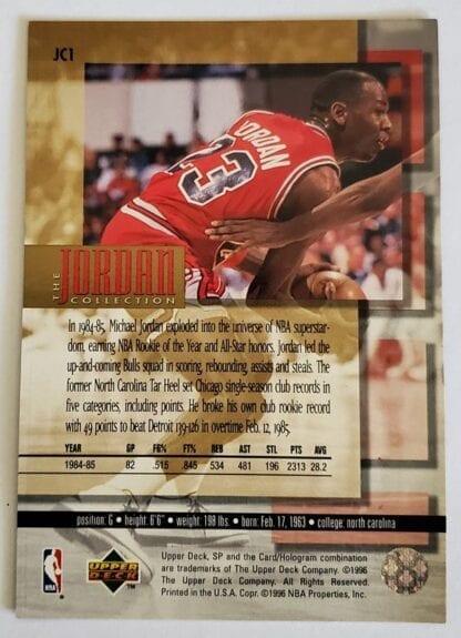 Michael Jordan Upper Deck 1996 Jordan Collection Back