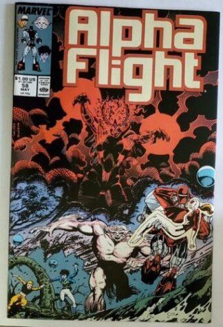 Alpha Flight Issue #58 Marvel Comics