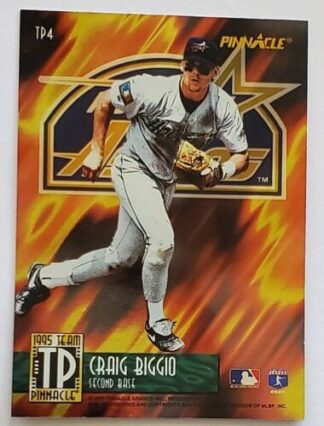 Craig Biggio Pinnacle 1995 Team MLB Sports Trading Card #TP4