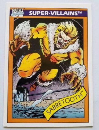 Sabretooth Marvel Comics Cards 1990