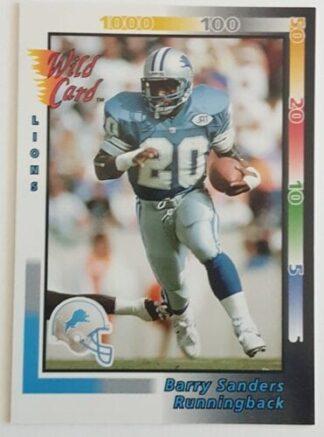 Barry Sanders Wild Card 1992 NFL Card #108