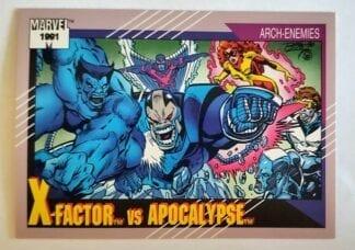 "X-Factor vs Apocalypse Marvel 1991 ""Arch-Enemies"" Card #101"