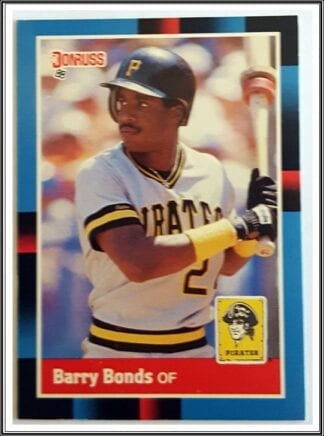 Barry Bonds Donruss 1988 MLB Trading Card #326