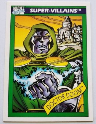 Doctor Doom Marvel Comic Cards 1990 Super-Villains Card #60