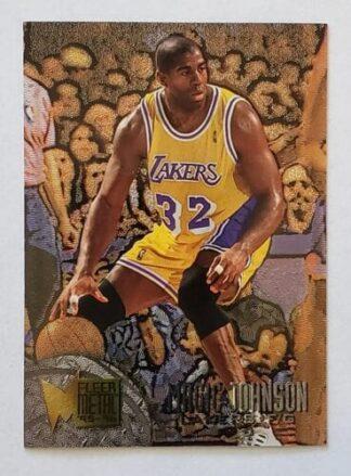 Magic Johnson Fleer Metal 1996 NBA Card #161