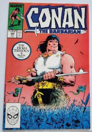 Conan The Barbarian Marvel Comics #206