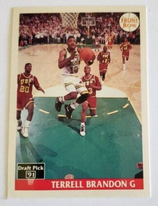Terrell Brandon Front Row 1991 NBA Trading Card #10 University of Oregon Italian Version