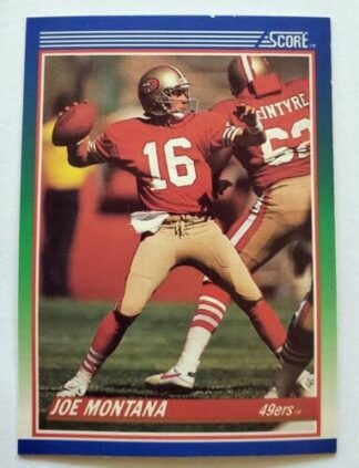 Joe Montana Score 1989 NFL Card #1