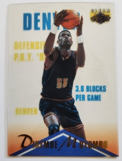 Dikembe Mutombo Classic Clear Asset 1996 NBA Sports Trading Card #23 Denver Nuggets