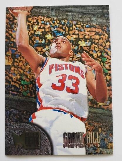 Grant Hill Fleer Metal 1995 NBA Trading Sports Card #29