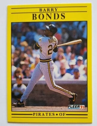 Barry Bonds Fleer 1991 MLB Sports Trading Card #33 Pittsburgh Pirates