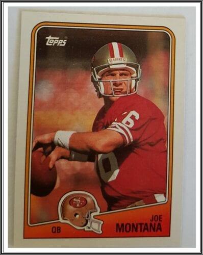 Major League Sports Card; Joe Montana Topps 1989