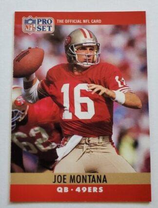Joe Montana Pro Set 1990 NFL Sporting Card #293 San Francisco 49ers