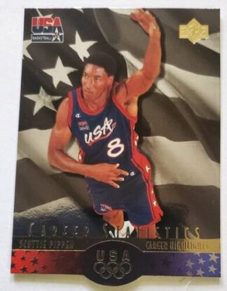Scottie Pippen 1996 Upper Deck SP NBA Card #S7 USA Basketball Team