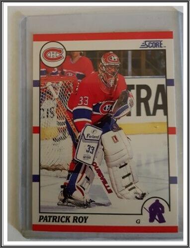 Patrick Roy Score 1990 NHL Hockey Card #10