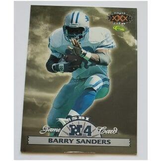 Barry Sanders Classic Game Card 1995 NFL Card #N4